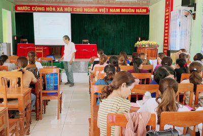 Tập huấn vệ sinh an toàn thực phẩm cho các trường Mầm non